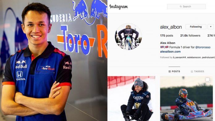 F1 Alex Albon Instagram