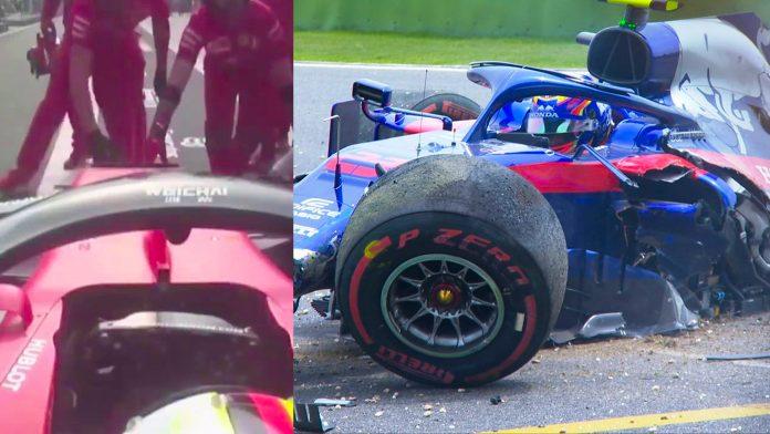 Alex Albon Sebastian Vettel F1